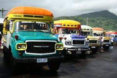 Bus vibrante verniciato in Samoa immagine stock