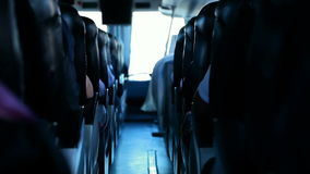 Bus. Video sequence, a bus seen from the inside stock video footage