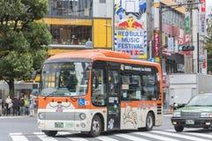 Bus voor gehandicapte Shibuya Tokyo Stock Afbeelding