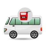 Bus white canister oil. Vector illustration eps 10 Stock Photography