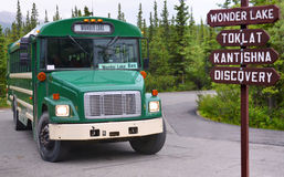 Bus, zum sich von See zu wundern Lizenzfreie Stockfotografie