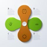 Busainess moderne de vecteur infographic Photographie stock libre de droits