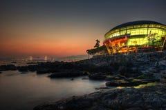 Busan APEC Gebäude und Skline lizenzfreie stockfotografie