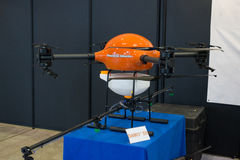 Busan Drone Show South Korea, first editorial news. The first Drone Show in South Korea and representing applications in emergency and agriculture Stock Images