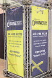Busan Drone Show South Korea, first editorial news. The first Drone Show in South Korea and representing applications in emergency and agriculture Royalty Free Stock Photography