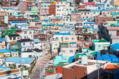 Busan Gamcheon Culture Village. Colorful and lovely village in South Korea stock photo