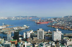 Busan-Hafen stockbild