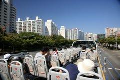 busan hamn södra industriella korea Arkivbild