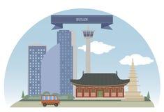 Busan, Korea ilustracja wektor