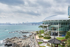 Busan, Korea - September 19, 2015: Nurimaru APEC house Stock Photography
