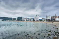 Busan, Korea - September 19, 2015: Songjeong beach Stock Images