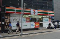 7-11 a Busan, la Corea del Sud Fotografia Stock Libera da Diritti