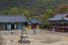 BUSAN - OCTOBER 27, 2016: Beomeosa Temple in Busan, South Korea. Royalty Free Stock Image