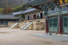 BUSAN - OCTOBER 27, 2016: Beomeosa Temple in Busan, South Korea. Stock Image