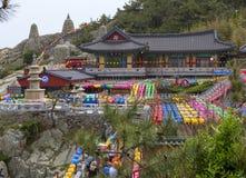 Busan, Południowy Korea, Haedong Yonggungsa świątynia fotografia royalty free