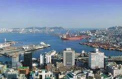 Busan port Fotografering för Bildbyråer