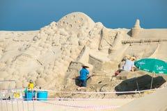 Busan sand festival 2015 beach haeundae day sculpture Royalty Free Stock Image