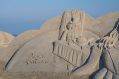Busan sand festival 2015 beach haeundae day sculpture Royalty Free Stock Photo