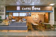 Caffe bene. BUSAN, SOUTH KOREA - CIRCA MAY, 2017: caffe bene at Gimhae International Airport, Domestic Terminal stock photo