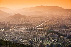 Busan, South Korea cityscape Stock Photos