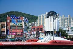 Busan South Korea industrial harbor Stock Photo