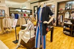 Tommy Hilfiger store. BUSAN, SOUTH KOREA - MAY 28, 2017: Tommy Hilfiger store at Lotte Department Store Royalty Free Stock Photos