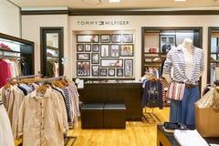 Tommy Hilfiger store. BUSAN, SOUTH KOREA - MAY 28, 2017: Tommy Hilfiger store at Lotte Department Store Stock Image