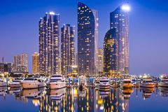 Busan, South Korea. Skyline at Haeundae District royalty free stock photo