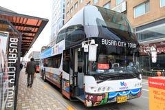 Busan-Stadtrundfahrtbus lizenzfreie stockfotos