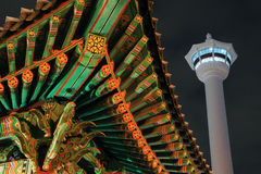 Busan Tower At Night Stock Images