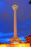 Busan Tower At Night Royalty Free Stock Photography