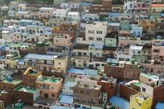 Busan une sorte sur des maisons Photographie stock libre de droits