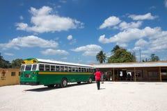 Busbahnhof, Belize Stockfotografie