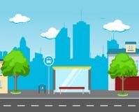 Busbahnhof in der Straße Lizenzfreie Stockfotos