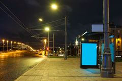 Busbahnhof in einer Mitte von Moskau lizenzfreie stockbilder