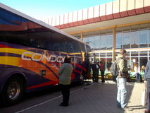 Busbahnhof für Reisen in Valparaiso, Chile Stockbilder