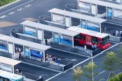 Busbahnhof in Hong Kong Stockbilder