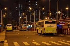 Busbahnhof in Shanghai Lizenzfreie Stockfotos
