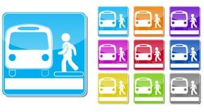 Busbahnhofzeichen Stockfoto