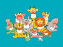 Busbana francese animale del bambino royalty illustrazione gratis