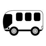 Busbestelwagen geïsoleerd pictogram Royalty-vrije Stock Foto