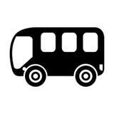 Busbestelwagen geïsoleerd pictogram Royalty-vrije Stock Afbeelding