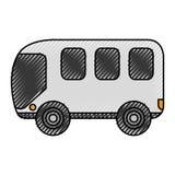 Busbestelwagen geïsoleerd pictogram Stock Foto
