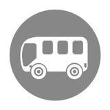 Busbestelwagen geïsoleerd pictogram Stock Fotografie