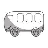 Busbestelwagen geïsoleerd pictogram Royalty-vrije Stock Foto's