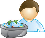 Busboy Icon Royalty Free Stock Photo