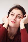Busca businesslady bonita para soluções aos problemas O engodo Fotos de Stock Royalty Free