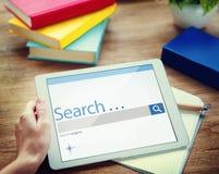 A busca consulta o conceito do Search Engine do Internet do achado imagem de stock royalty free