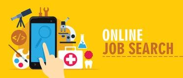 Busca de emprego on-line Imagem de Stock