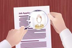 Busca de Job Application /Resume ilustração do vetor